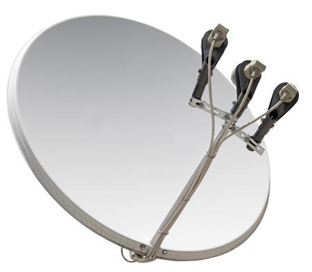 Antena parabólica aislado sobre fondo blanco.