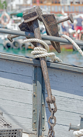 Anchor on the side of the vessel