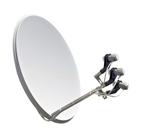 Antena parabólica de antena aislada en el fondo blanco Foto de archivo - 106143780