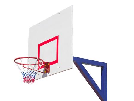 Basketball backboard isolated on white background Stock Photo