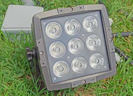 Close up outdoor LED lamp on the yard Stock Photo - 106346988