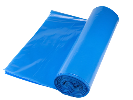 convolute in a roll packages for garbage on white