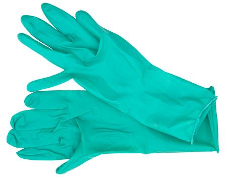 new medical gloves on white background