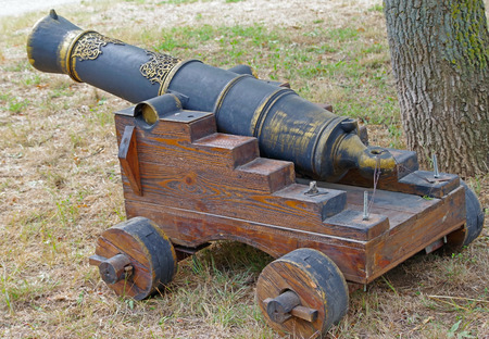 model of old ship cannon