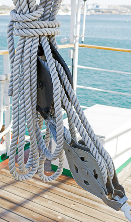 Yacht Pulley Block and Rope
