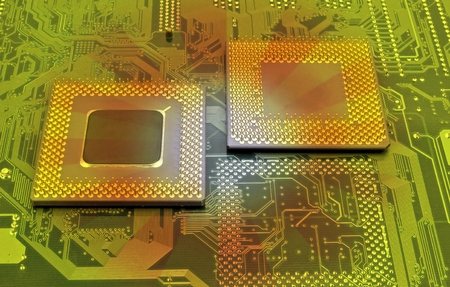 close up of cpu processors