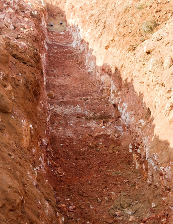 the deep trench for water pipe