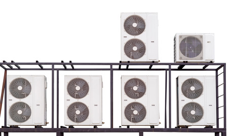 air conditioning compressors on white background