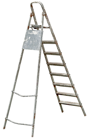 old Ladder Isolated on white background
