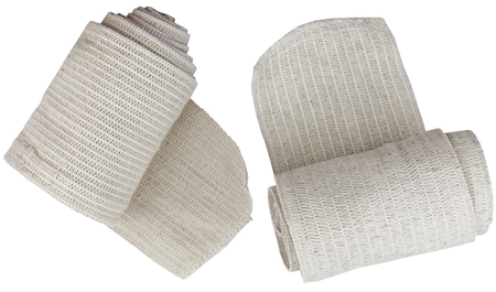 Medical bandage roll isolated on a white background