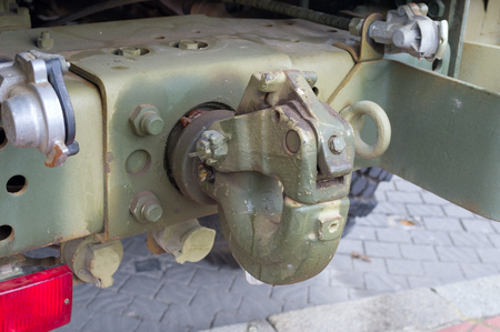 hook for towing on military car
