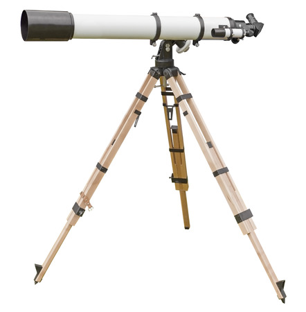 a small telescope on a white background