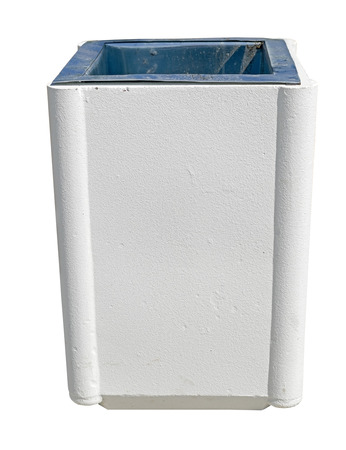 garbage container on white background Stock Photo