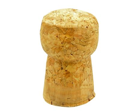 Front view of champagne cork isolated on white background Standard-Bild
