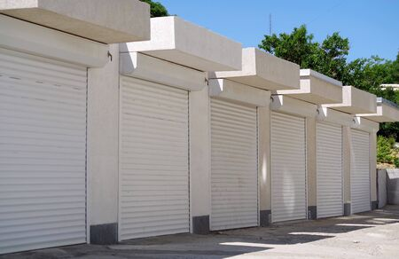 New modern automatic gates to the garage