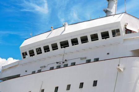 captains bridge on the passenger cruise ship
