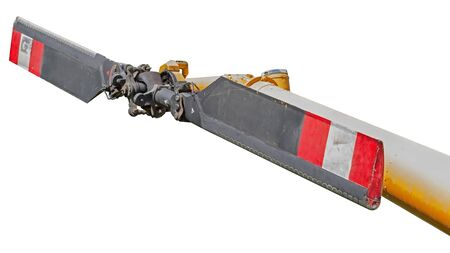 tail rotor of helicopter on white background Banque d'images