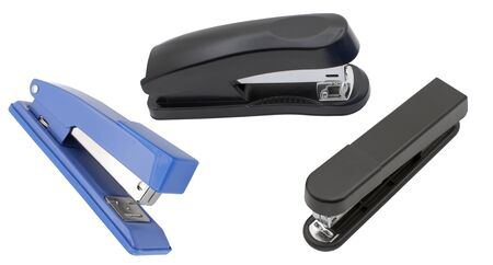 staplers isolated on a white background