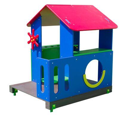 the Children's playground on white background Stock fotó - 130566930