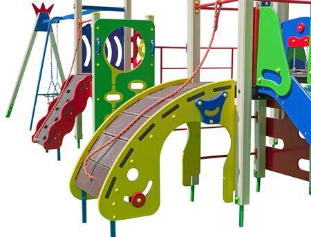 the Childrens playground on white background