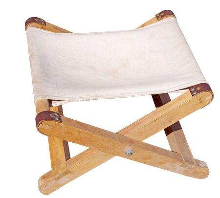 Folding camping stool isolated on white background Standard-Bild