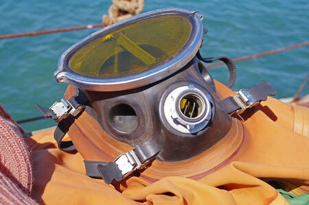 the Wetsuit equipment for industrial diving Stockfoto
