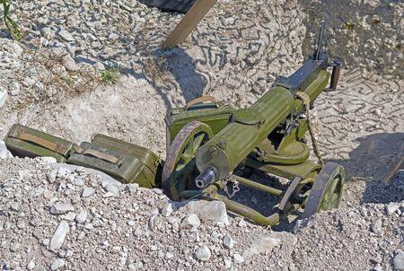 Old Machine Gun WW2 period's on position
