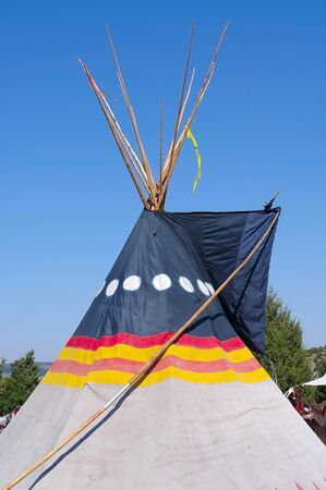 the Summer camping tent, Indian wigwam hut