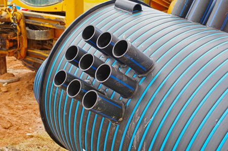 plastic caisson for water from a well on construction sites Reklamní fotografie