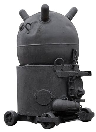 naval mine from the second world war on white background