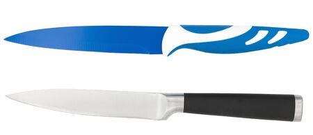 Kitchen knifes on a white background