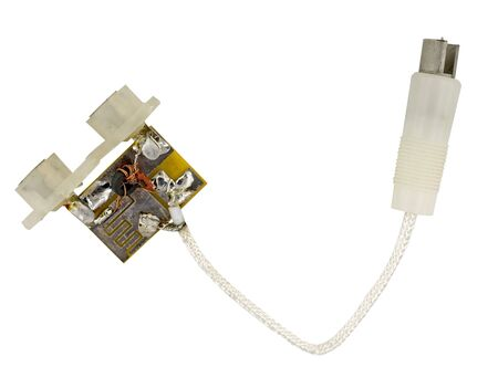 Splitter for connecting cables on a white background