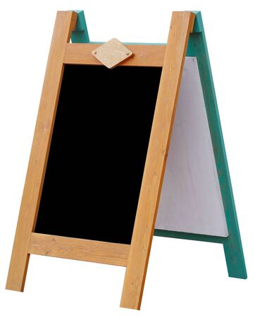 sandwich board with chalkboard area blank for insertion of your message