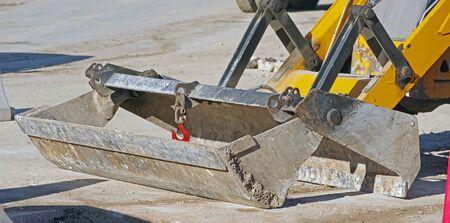 part of modern yellow excavators machines