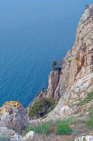 Beautiful rocky coast of Black sea