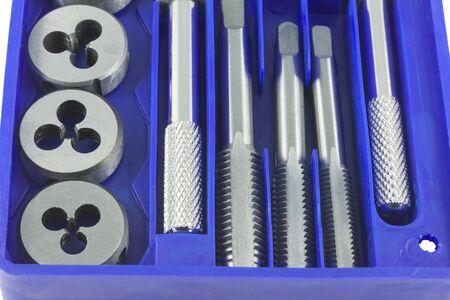 Kit of tools for repair of technique Archivio Fotografico