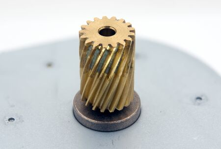 gear of Small electric motor on white background 版權商用圖片