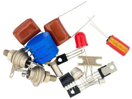 Radio components on white background Reklamní fotografie
