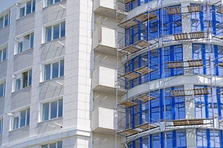 Big multifamily housing under construction