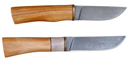Hunting knifes isolated on white background