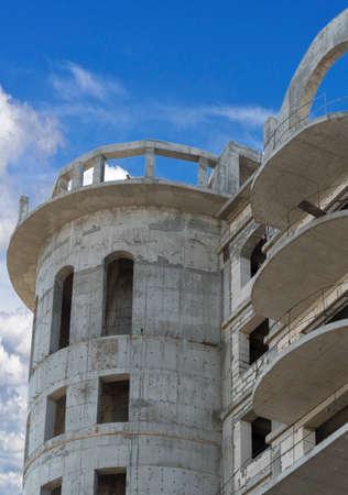 building under construction against the blue sky