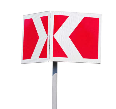 Road sign isolated on white background Stock fotó