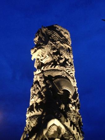 monolithic: Suphanburi Monolithic Dragon of Thailand Stock Photo