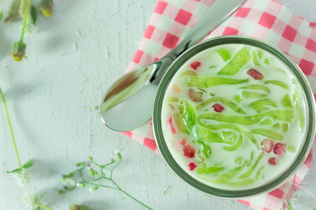 Cendol or Iced dessert of Thailand sweet food Stock Photo