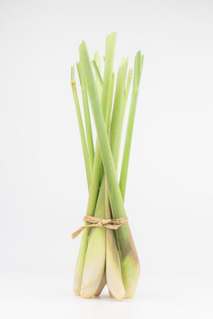 Fresh Lemongrass close up macro food background
