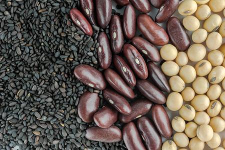 mung: soybean,Red bean,black sesame