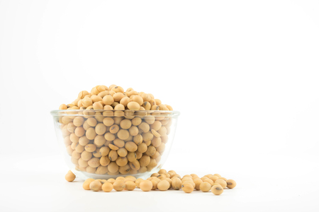 soy beans on white background