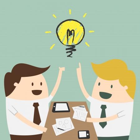imprenditore spiegando un piano finanziario per i colleghi in riunione