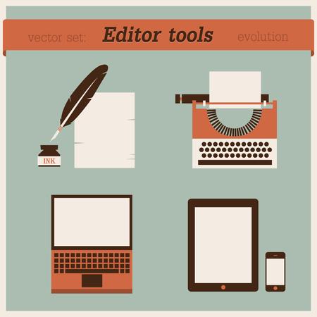 type writer: Strumenti di editazione