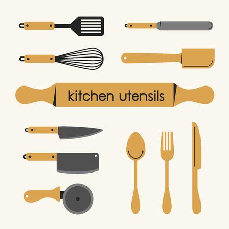 Set of Kitchen utensil Illustration